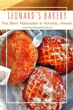 Leonard's Bakery has the best Malasadas ever. These delicious cream filled treats are a must have when visiting Honolulu, Hawaii. Malasadas Recipe Hawaii, Oahu Vacation, Hawaii Things To Do, Hawaii Pictures, Best Bakery, Honolulu Hawaii, Hawaii Beach, Lanai, Farmers Market