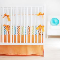 new arrivals crib bedding sweet & simple tangerine