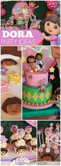 How fun is this Dora the explorer birthday party! See more party ideas at http://Catchmyparty.com!