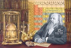 russian scientist Dmitry Mendeleyev - created the first version of the periodic table of elements