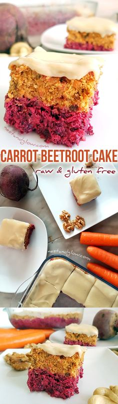Raw Carrot Beetroot Cake Recipe - Easy, vegan, gluten-free and paleo  via @nestandglow