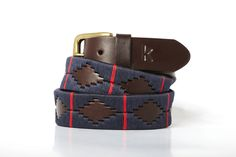 Men leather belts from Argentina / Bleu marine