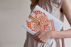 Geometric iPad case / Coriumi on etsy
