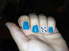 Leopard nails ((teal))
