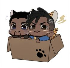 T'challa & Erik Killmonger || Black Panther || Cr: 壳