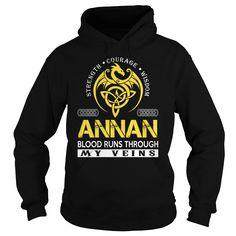 ANNAN Blood Runs Through My Veins - Last Name, Surname TShirts