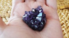 Uruguayan Dark Amethyst cluster extra quality ~ 1 small reiki infused cluster approx 33x32x19mm (E10) by Kiliamma on Etsy