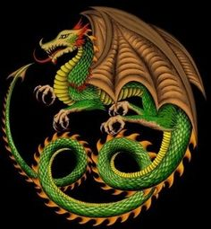 dragons winged  green