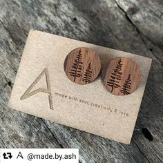 #madeincanada 🇨🇦 on a Trotec laser. Thanks for sharing @made.by.ash , beautiful minimalist laser engraved wooden earrings! 😍♥️👏 . . . #earrings #laserengraved #laserengraving #laseretched #laseretching #lasercutting #lasercut #rayjet #trotec #giftideas #gifts #woodjewellery #business #woodjewelry #woodshop #woodwork #lasercutter #laserengraver #design #art #entrepreneur #buildsomething #woodearrings #personalizedgifts #maker #crafting #diy #calledtocreate
