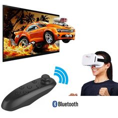 VR Glasses Bluetooth Remote Controller Wireless Support Virtual Reality Headset Glasses for IOS or Android Smartphones