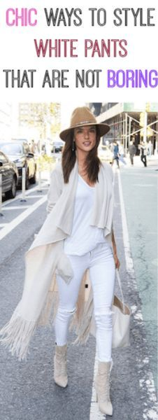 Chic ways to wear white pants in winter, that are not boring | allthestufficareabout.com white pants outfits, white fashion, white style, chick white outfits, alessandra ambrosio, paula jagodzinska, mirabelove, malgosia rozenek, emilevivre, fall outfits 2018, fall outfits woman