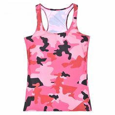This anti-shrink, breathable Pink Camouflage Racerback Tank is fashion for the front lines with an oh, so soft feel. Running Tank Tops, Yoga Tank Tops, Workout Tank Tops, Athletic Tank Tops, Pink Camouflage, Camouflage Fashion, Red Leggings, Printed Leggings, Blouses For Women