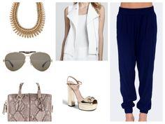 Pumps. Gucci Vest. Vincent Pants. Emerson Thorpe Bag. Tod's Sunnies. Gucci Necklace. Adia Kibur
