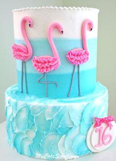 Tarta con flamencos rosas, ideal 👌