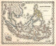 1855 Colton Map of the East Indies (Singapore, Thailand, Borneo, Malaysia)_-_Geographicus_-_EastIndies-colton-1855.jpg (3500×2873)