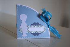 scrap carte ronde naissance garçon bébé