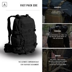 FAST Pack EDC from Triple Aught Design. Learn More Here: http://store.tripleaughtdesign.com/FAST-Pack-EDC