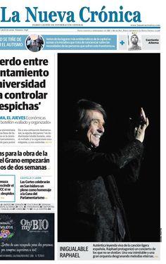 Agenda Cadiz @AgendaCadiz  18 hHace 18 horas Exitoso paso Sinphónico @RAPHAELartista #León en portada de lo diarios locales. INIGUALABLE #Raphael @raphaelnet_com