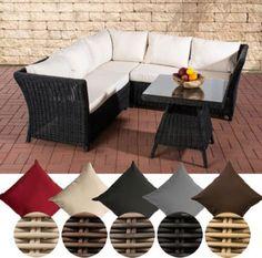 Lounge ecksofa garten  Garten Lounge-Gruppe SANTA LUCIA, 5 mm RUND-Geflecht, 2x Sofa, 1x ...