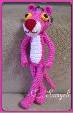 Little pink panter is free pattern --> HERE TARİFTEKİ KISALTMALARVE VİDEOLARI  / ABBREVIATIONS AND THEM VİDEOS ch ( chain)...