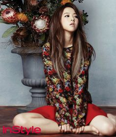 Wolf Boy's Park Bo Young Blossoms In The January Issue Of Instyle Korea