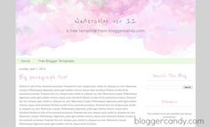 Free Gorgeous Watercolor Blogger Template from bloggercandy.com