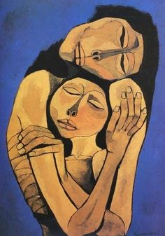 by Oswaldo Guayasamin Quito, Ecuador) or 'Mother & Child' Art And Illustration, Learn Art, Fine Art, Portrait Art, Figurative Art, Painting & Drawing, Modern Art, Contemporary Art, Art Projects