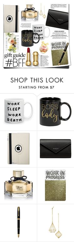 """""""Work BFF Gift Guide"""" by nonamanis143 ❤ liked on Polyvore featuring Natico, Balenciaga, Gucci, Parker, Martha Stewart and giftguide"""