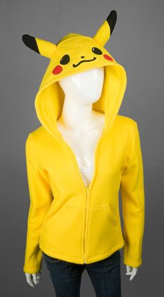 Pikachu Pokemon Costume Hoodie Made to Order by CholyKnight