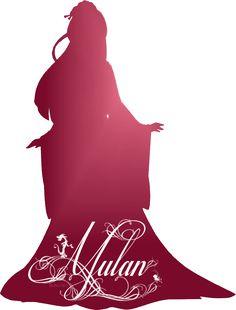 Mulan Silhouette - Disney Princess Photo (37757458) - Fanpop