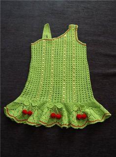 Light green girl's dress ♥LCK♥ with diagram