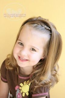 little girl hair....get those bangs out of your eyes...cute