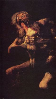 Saturn devouring one of his children-Francisco Goya  - 1819-1823