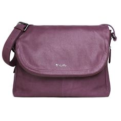 The Ryder Satchel baby bag in GRAPE has been crafted using the most deliciously soft leather.  This popular shape takes on a totally new look with a secluded zip pocket in the flap of the bag, an expandable base for when you need a little extra room and a grab and go handle on the back for when youre on the run.