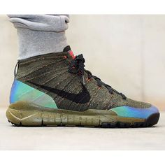 5e1c1d6c27a2a1 Holographic paneling hits the Nike Flyknit Chukka FSB. How do you like it   Check it out on freshnessmag.com