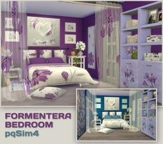 PQSims4: Formentera Bedroom • Sims 4 Downloads