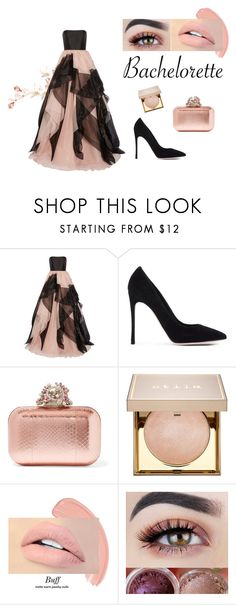 """""""bachelorette#1"""" by jigsaw13 ❤ liked on Polyvore featuring Reem Acra, Gianvito Rossi, Jimmy Choo, Stila and Bachelorette"""