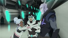 Shiro tries to stop Princess Allura from fighting with Ulaz from Voltron Legendary Defender