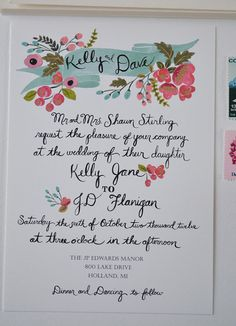 oh so pretty custom wedding invites