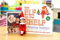 great ideas for Elf on the Shelf in the classroom!