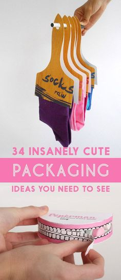 34 Insanely Cute Packaging Ideas You Need To See... I love these all! #packaging