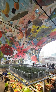 Rotterdam Travel and City Guide - Netherlands Tourism - MVRDV's Markthal Rotterdam photographed by Hufton+ Crow - Space Architecture, Amazing Architecture, Rotterdam Architecture, Rotterdam Market, Netherlands Tourism, Rotterdam Netherlands, La Haye, Eindhoven, Beautiful Buildings