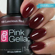 <p>Pink Gellac gel nail polish, lasts 14+ days!</p>