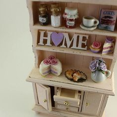 Shabby chic dollhouse cabinet 💗