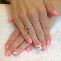 Love the pink color....not a big fan of the 3D nails.