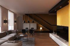Кравченко Сергей kravchenko-sergey.ru Duplex apartment with terrace in France.  #3D #render #rendering