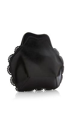 Small Black Scalloped Bag by Simone Rocha - Moda Operandi
