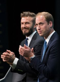 (R) Prince William, Duke of Cambridge and David Beckham attend the launch of United for Wildlife campaign at Google Town Hall, 09.06.2014 in London, England.