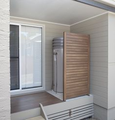"""DecoWood """"Kwila"""" Screen and DecoDeck - http://www.decorativeimaging.com.au/index.php?option=com_rsgallery2&page=inline&id=104&Itemid=53 #timber #panel #timberscreen #aluminiumscreen #privacyscreen"""