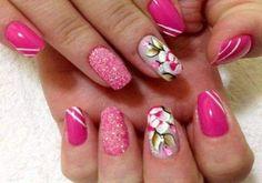 unhas decoradas com rosas - 08